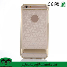 mobile cover with kickstand, pc tpu fashion design mobile phone back cover for iPhone 6