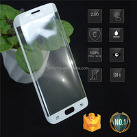 Stock promotion sale Perfect fit for samsung S6 galaxy edge full cover tempered glass screen protector, Hot selling!