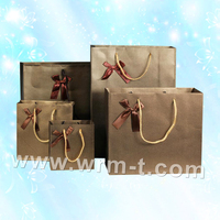 Matte or glossy laminated kraft shopping paper bag