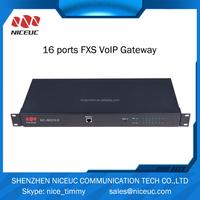 FXS/FXO 16 ports telecom carrier class reliability VoIP Gateway
