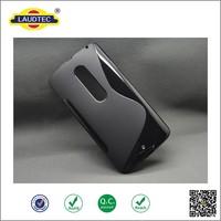Black ultra thin Matt Translucence phone case Cover TPU Gel S Line Cell phone Case For Moto X3--Laudtec
