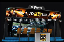 entertainment industry indoor playground equipment, 6D cinema, 5D theater