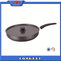 26-34cm large cookware pan with stainless steel handle & cover