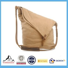 Latest Design Canvas and Leather Shoulder Strap Girls Side Bags For College