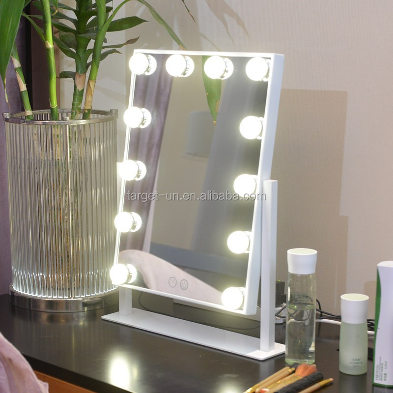 Hollywood Miroir Avec La Lumi 232 Re Ampoules Miroir De