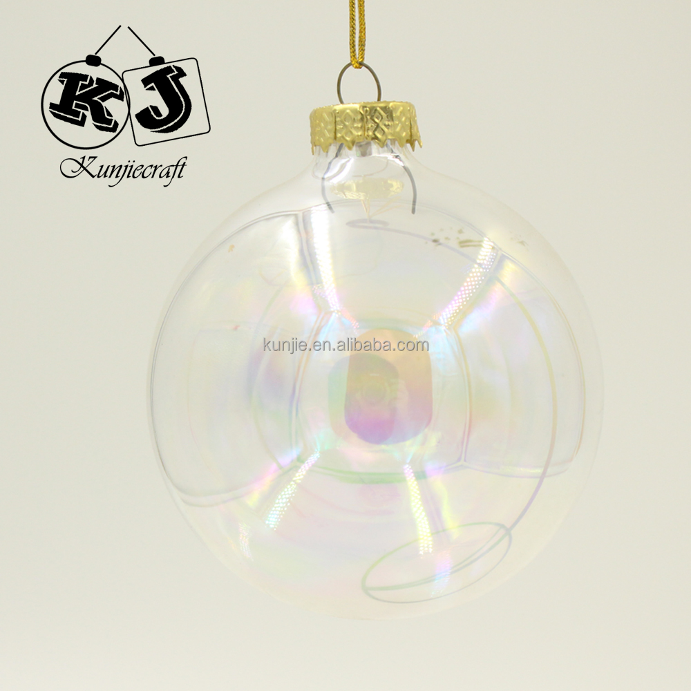 Wholesale clear glass christmas ball ornaments bubble