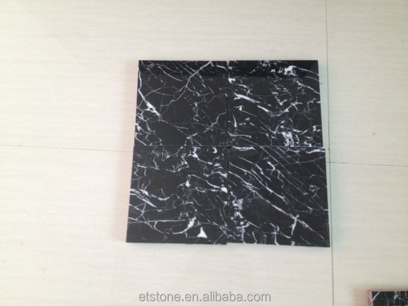 Good nero marquina marble floor tiles for 12x12 marble floor tiles