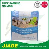 Small zipper non woven bag/green color non woven bag/shop design pp non woven bag