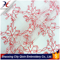 2016 LATEST POLY CHIFFON LASER CUT EMBROIDERY DESIGN FOR DRESS