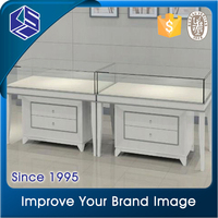 New products white spraying jewellery shop showcase design for store