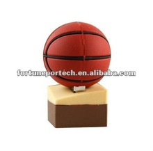 sport basketball with usb flash drive