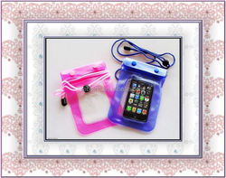 PVC waterproof beach bag for Iphone htc or galaxy series