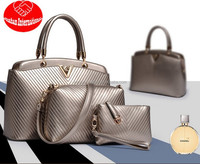 European and American high-end three-piece bag, stone rose 3 pcs per set Handbags/Picture Pack/shoulder bags/one shoulder bags/