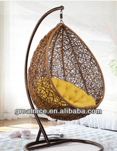 Rattan bird nest hanging basket hanging chair rattan swing chair indoor balcony single rocking chair