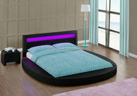 4 Colour Remote LED Head Double Size PU Leather Attractive Price Round Bed WSB835-1