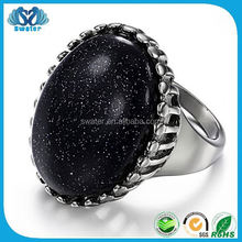 Fine Jewelry Ring For Men With Black Stone