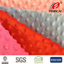 Fengcai Minky Dot Blanket Fabric For Making Baby Blankets