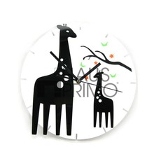Tc-s608 personalizado lindo de la jirafa moderna reloj de pared del péndulo