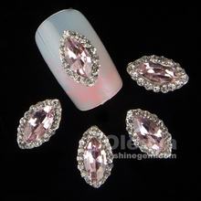 3d jewelry decoration nails art rhinestone for manicure pink gem design nail accessories