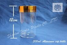 high quality 300ml plastic bottle, 300ml aluminium bottle, capsule bottle 300 ml
