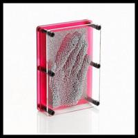 Creative 3D Pin Art Games print hand, face, toe/ metal pin art