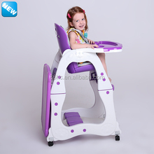 luxury design en14988 3 in 1 plastic baby food chair feeding chair in kitchen