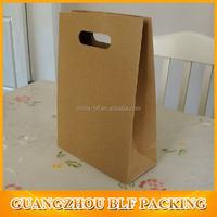 (BLF-PB727)Die cut handle kraft paper bag