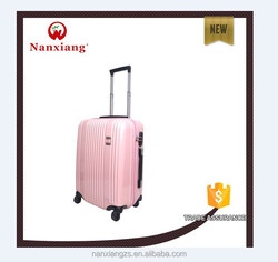 cute luggage,carry-on type, zipper hard-shell ABS+PC travel luggage