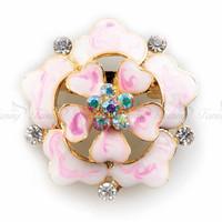 K001 Wholesale Price New Arrival Flower Rhinestone Crystal Brooch Crystal Brooches