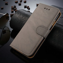 2015 China Factory Leather Mobile Phone Case Vintage leather wallet mobile phone cases for iPhone 6