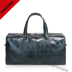 Customized luxuty italy oil letaher duffel bag , travelling bags gentlemen fashion leather bags