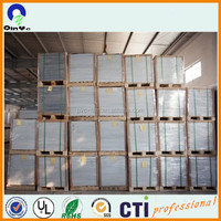 hotsell in spain ROHS plastic card material 0.3-1mm thick pvc polish white sheets/glossy white sheets