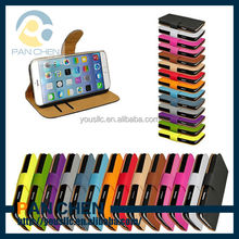 wholesale wallet waterproof leather mobile phone case for iphone 6