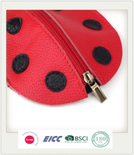Hot round dot key chains pouch gift case for kid wholesale price