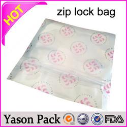 Yasonpack qingdao zipper bags ziplock bag for candy packing zip lock bag color