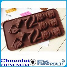 MFG Various shape silicone chocolate molds silicone peanut butter cup mold