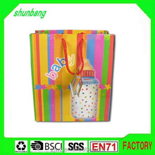 Custom fashion recycle craft with logo print gift shopping paper bag
