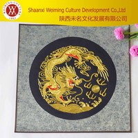 2015 NEW Flower China's traditional embroidery jinlong play pearl made in china