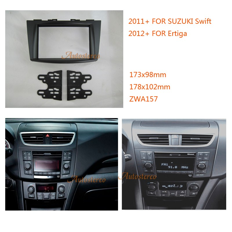 2 Din Car Radio Installation Trim Fascia For Suzuki Swift