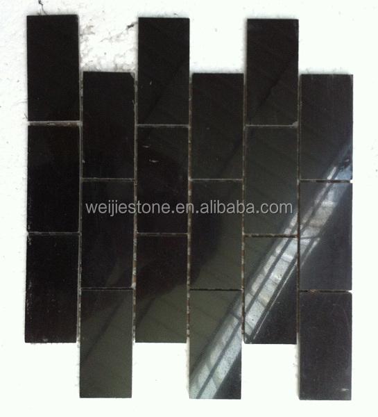 2 x 4 brillant anti fade noir galaxy marbre carrelage mosaque pour dosseret de cuisine - Marbre Galaxy Cuisine