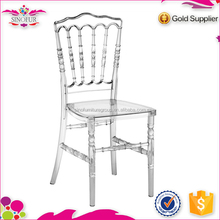 clear knock down stackable resin napoleon chair