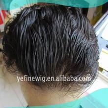 Wholesale Price Full Handtied Human Hair Men Hair Pieces Toupee