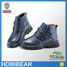 HOBIBEAR 2015 pop casual child leather school shoes kids winter ankle boots