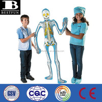 China manufacturer lifelike giant inflatable skeleton portable lifesize fake skeleton plastic cheap skeleton