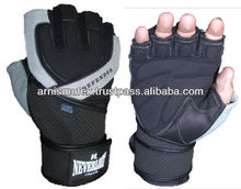 Professional customize leather palm weight lifting weight lifting cycling gloves with GEL pad
