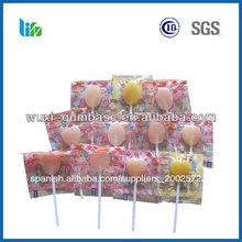 caliente la venta de frutas duro lollipop candy empaquetado niños producto de caramelo