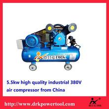 5.5KW 380V Piston Air Compressore 8Bar heavy duty 380V AC Power piston Belt -driven Air Compressor