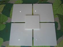 Crystal White pore free artificial stone for wall cladding and flooring