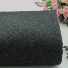 Black dark grey knitted cashmere fabric coat fabric dresses fabric