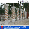 natural stone pillar&column with flower carved